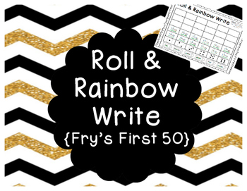 Fry's First 50 Sight Words- Roll & Rainbow Write