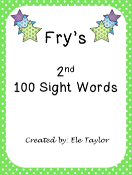 Fry's Second 100 Sight Words/High Frequency Words!