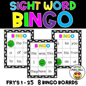 Sight Word Bingo Words 1-25