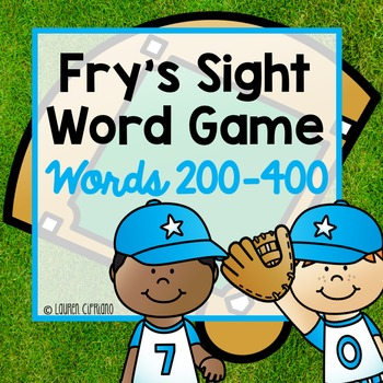 Fry's Sight Word Game (Words 200-400)