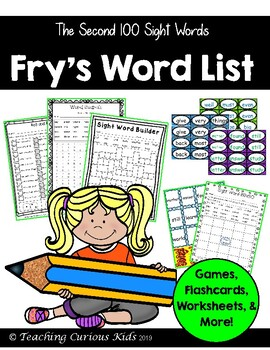 Fry's Sight Word List- The Second Hundred