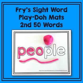 Fry's 2nd 50 Sight Word Play-Doh Mats