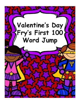 Valentine's Day - Fry's First 100 words, word jump!