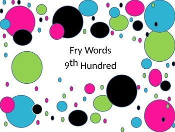 Fry words sight word flashcards 9th hundred with neon polk