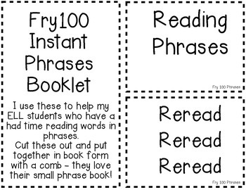 Fry100 Phrases - Student Book