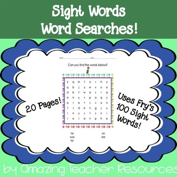Fry's 100 Sight Words - Bundle of 20 pages of Sight Words