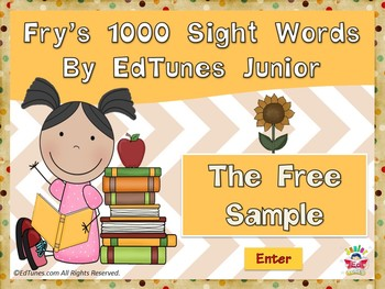 """Fry's 1000 Sight Words by EdTunes Jr. """"The Free Sample"""""""