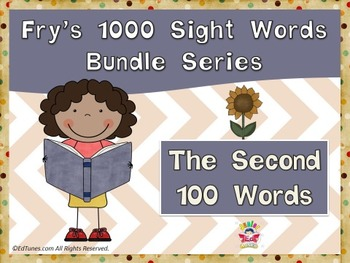 Fry's Second 100 Sight Words Bundle by EdTunes Jr.