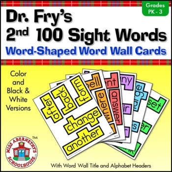 Fry Sight Word Cards and Word Wall Headings: Dr. Fry's 2nd