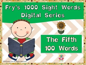 Fry's Fifth 100 Digital Sight Words by EdTunes Jr.