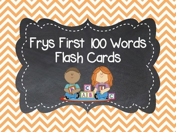 Frys First 100 Word Flashcards