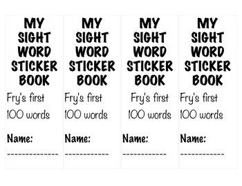 Fry's First 100 Words Sticker Books