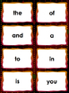 Fry's First 100 sight word flashcards Great for fluency ac