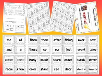 Fry's First 500 Sight Words Flash Cards Mini Bundle by EdT