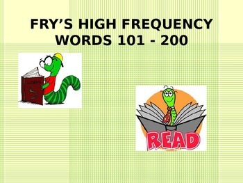 Fry's HFW's Power Point words 101-200