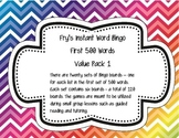 Fry's Instant Words Bingo First 500 Words Value Pack 1