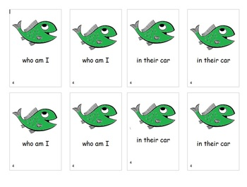 Fry Sight Word Phrases Go Fish Game List 4
