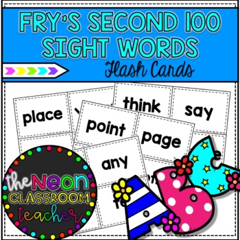 Fry's Second 100 Sight Word Flashcards