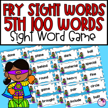 Fry's Sight Words 5th Hundred Game