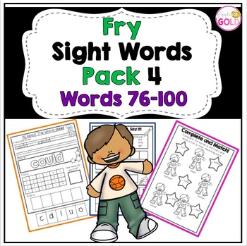 Fry's Sight Words Activity Pack 4