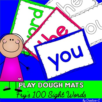 Fry's Sight Words First 100 Words - Play Dough Mats - Colo