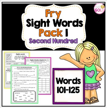 Fry's Sight Words Pack 1- Second Hundred List (101-125)