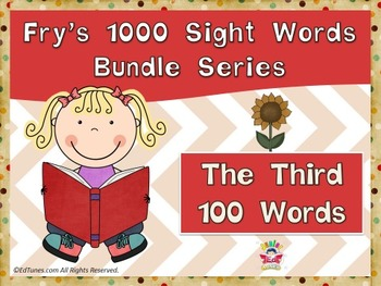 Fry's Third 100 Sight Words Bundle by EdTunes Jr.