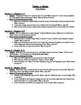 Fudge-a-Mania (Blume) - Novel Study
