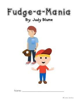 Fudge-a-Mania Novel Study Common Core-Aligned