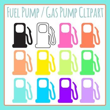 Fuel Pump / Gas Pump Symbols Clip Art for Commercial Use