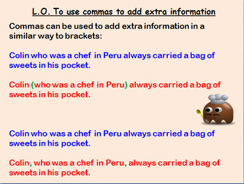 Full 3rd-5th Grade English lesson on using commas to add e