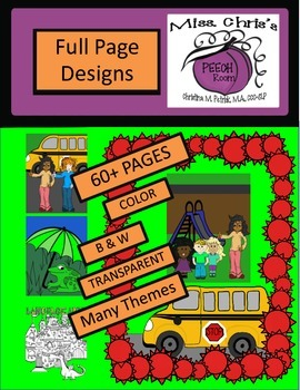 Full Custom Pages for Your TPT Cover Pages  60+ Many Themes