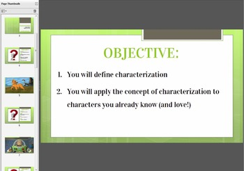 Full Lesson - Characterization