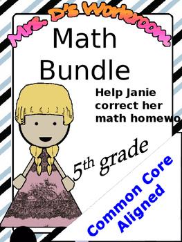 Full Math Bundle - Common Core Aligned - 5th grade NBT standards