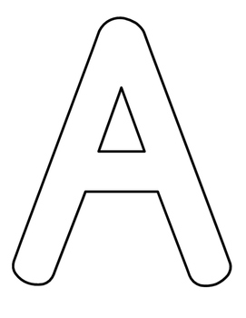 Full Page Alphabet Coloring Sheets Capital Letters