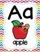 Full Page Alphabet Posters - Rainbow Chevron Theme Classroom