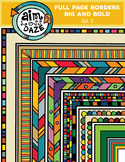Full Page Doodle Border-Big and Bold Set 1