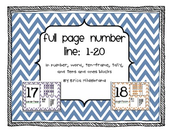 {Full Page} Number Line in Chevron Pattern