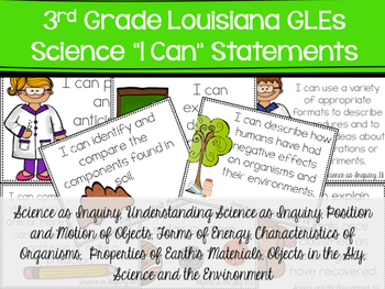 Full Page Science I Can Statements