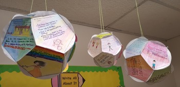 Bloom Ball Book Report, Full Size - Editable