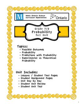 Full Unit - Probability - Meets BOTH Ontario 7/8 Probabili