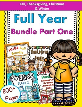 Full Year Bundle Part One! Fall, Thanksgiving, Christmas,