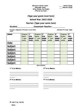 Full Year Report Card