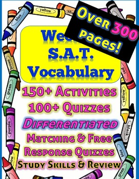 UPDATED***Full Year of Weekly SAT Vocabulary Activities, R