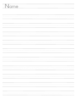 Full page handwriting sheet with name area