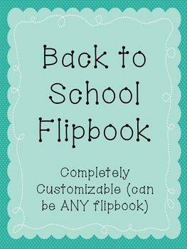 Fully Editable Flip Book Template tailored to First Days Info