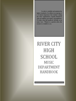 Fully Editable Music Department Handbook for High School B