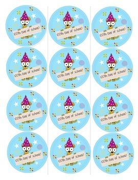 Fun 100th Day of School Buttons