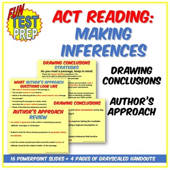 Fun ACT Making Inferences PPT: Drawing Conclusions and Aut