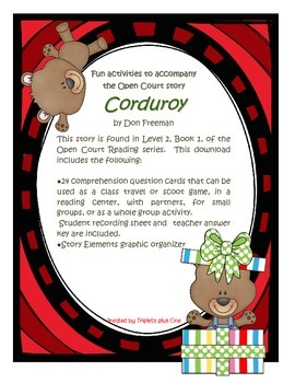 Fun Activities to accompany the Open Court story Corduroy